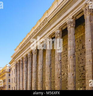 The Exterior of the Pantheon in Rome, Italy - Stock Image