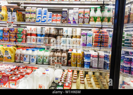Miami Coconut Grove Florida The Fresh Market chain retail gourmet supermarket specialty grocer shopping refrigerator dairy produ - Stock Image