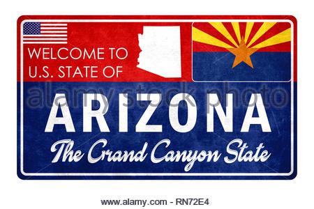 Welcome to Arizona - Stock Image