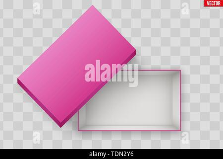 Blank of Open Pink Shoe Box - Stock Image