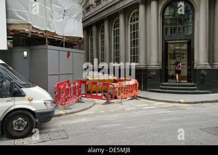 City of London roadworks - Stock Image