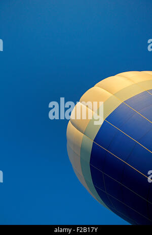 Blue sky and hot air balloon at the 30th annual Atlantic International Balloon Fiesta in Sussex, New Brunswick, - Stock Image