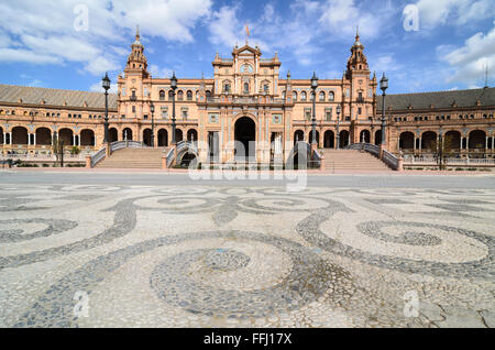 Plaza de Espana, Seville, Spain, Europe. - Stock Image