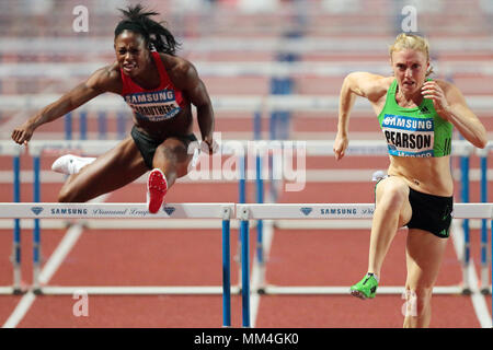 Monaco, Principality of Monaco . 22th, Jul 2011. (L-R) Danielle Carruthers of the United States of America and Australian's Sally Person competes in t - Stock Image