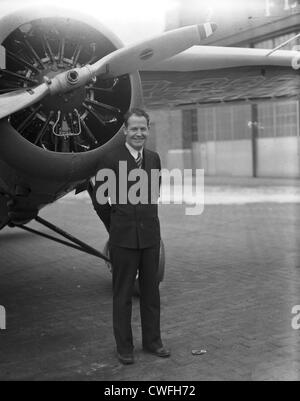 James Mattern, noted aviator, 1934 - Stock Image