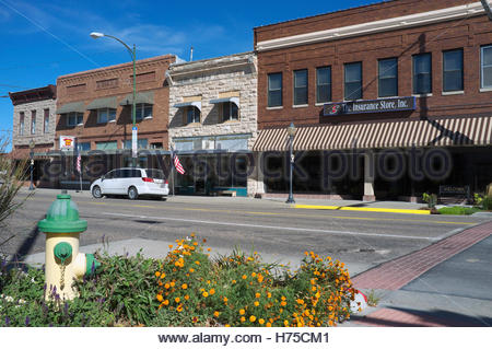 View in the historic downtown area of Laramie, Albany County, in Wyoming, USA. - Stock Image