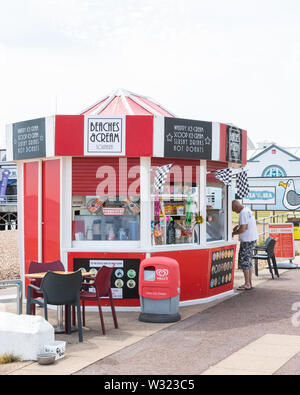 A British seaside ice bream and sweet stall - Stock Image