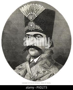 Naser al-Din Shah Qajar, Shah of Persia - Stock Image