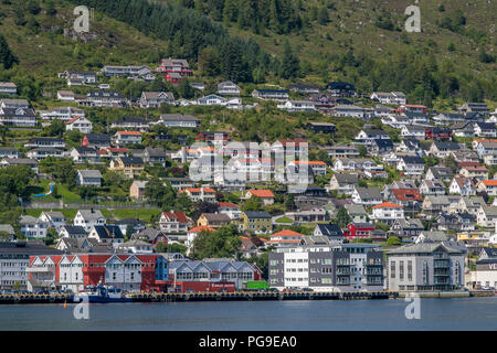View of Maloy, Norway. - Stock Image