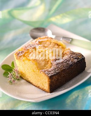 Smooth Apple Cake - Stock Image
