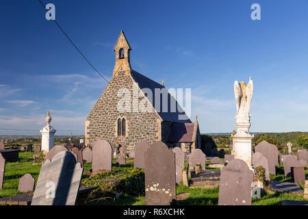 Old church at Rhoscolyn on Anglesey, North Wales - Stock Image