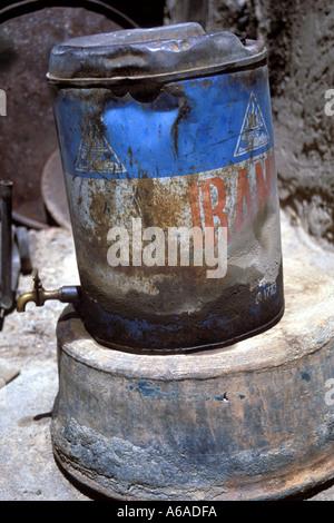Iran Esfahan Iran oil drum - Stock Image