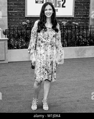 Los Angeles, CA - June 02, 2019: Jessica DiCicco attends the Premiere Of Universal Pictures' 'The Secret Life Of Pets 2' held at Regency Village Theat - Stock Image