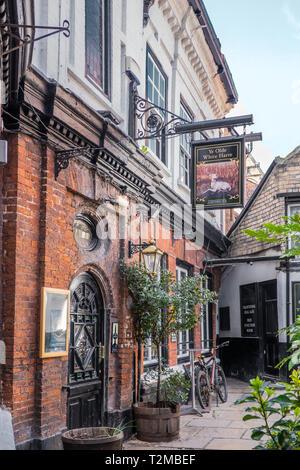 Ye Olde White Hart,Pub,Silver Street,Kingston upon Hull,England - Stock Image