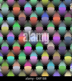 Vector background with colorful lights - Stock Image