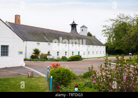 Historic Dallas Dhu Distillery museum produced single malt Scotch whisky between 1899 and 1983. Forres, Moray, Scotland, UK, Britain - Stock Image