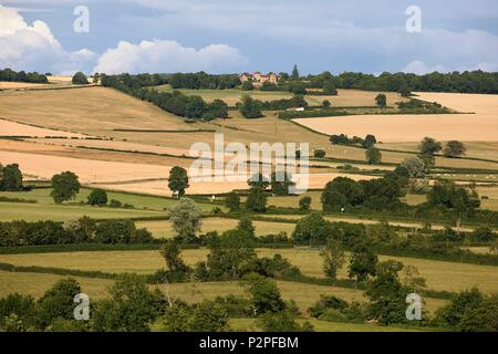 France, Yonne, Montreal, Landscape from Notre Dame Collegiate Church - Stock Image