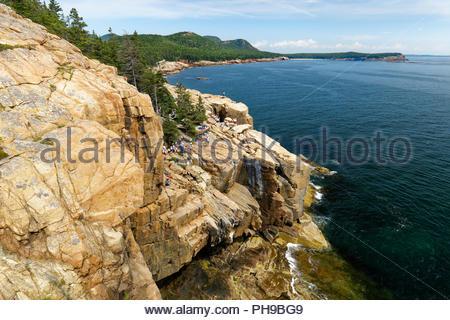 Otter Cliffs, Acadia National Park, Maine, USA - Stock Image