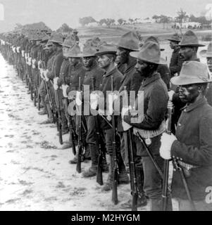 Spanish-American War, Buffalo Soldiers, 10th Cavalry, 1899 - Stock Image