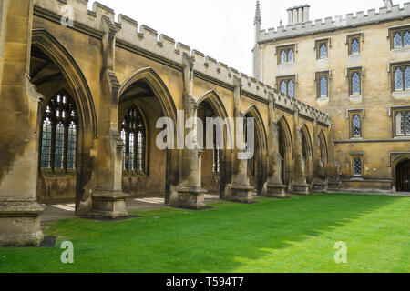 New Court Cloister St Johns College Cambridge 2019 - Stock Image