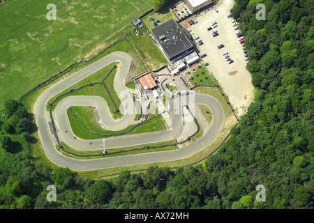 The Raceway Go-Cart Track in Brentwood, Essex - Stock Image