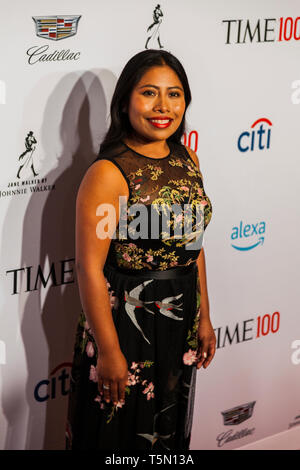 Yalitza Aparicio attends TIME 100 GALA on April 23 in New York City - Stock Image