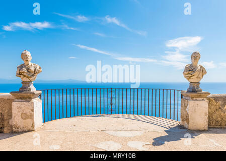 Villa Cimbrone, Ravello, Amalfi coast, Salerno, Campania, Italy. - Stock Image