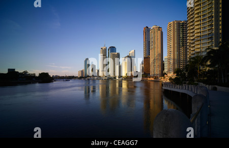 Brisbane cityscape and river - Stock Image