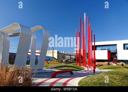 ARTivity on the Green, art park in downtown Winston-Salem, North Carolina - Stock Image