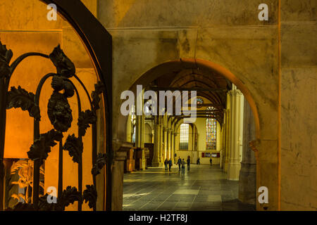 Interior of The Oude Church (De Oude Kerk), Amsterdam, Netherlands - Stock Image