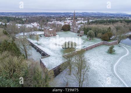 Hillsborough castle, winter snow - Stock Image