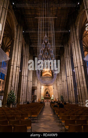 Canterbury Cathedral Nave - Stock Image