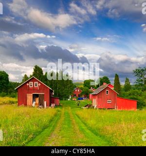 Farm in Varmland, Sweden. - Stock Image