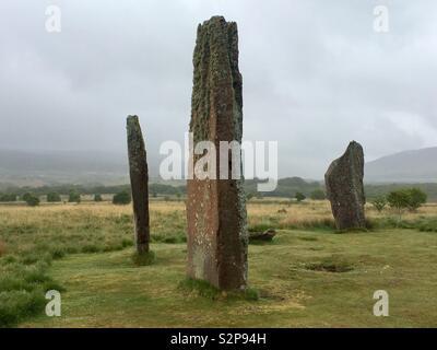 Machrie Moor Stone Circles, Arran, Scotland - Stock Image