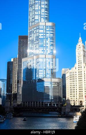 Trump Tower, Chicago, Illinois. - Stock Image