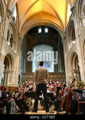 Orchestra rehearsals - Stock Image