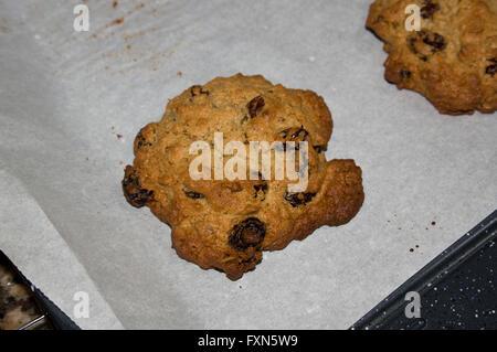 oat meal raisin cookies gourmet healthy - Stock Image