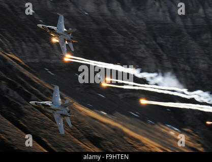 McDonnell Douglas F-18 Hornet Fighter of Switzerland Air Force - Stock Image