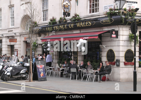The Prince of Wales Pub Drury Lane Covent Garden London - Stock Image