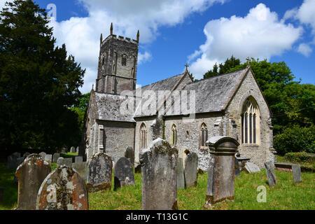 St James Church, Arlington, Devon, UK - Stock Image