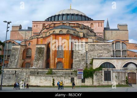 Hagia Sophia, Ayasofya Meydani, Fatih, Istanbul, Turkey, Eurasia - Stock Image