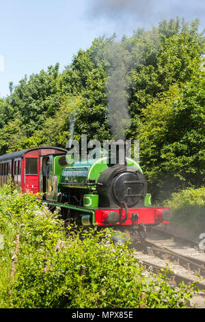 Steam engine Slough Estates No3 at work on the Middleton Railway musum in Leeds. The 0-6-0 saddle tank locomotive was built in 1924 by Hudswell Clarke - Stock Image