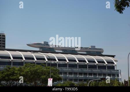 Marina Bay Sands Hotel and Casino Singapore - Stock Image