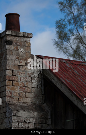 Old chimney and roof - Stock Image