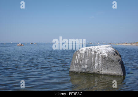 Vormsi rocky coast. Lääne county, Estonia - Stock Image