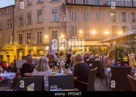 Avignon, FRANCE, People in French Cafe Restaurants - Stock Image