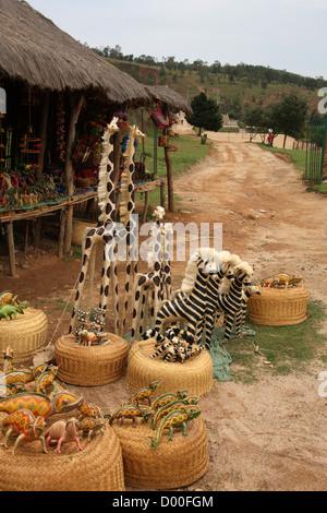 Malagasy Straw Animals. Antsirabe, Madagascar, Africa. - Stock Image