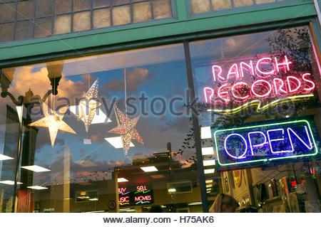 Ranch Records, record store in NW Oregon Ave., Bend, Deschutes County, Oregon, north west USA. - Stock Image