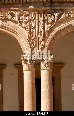 Architectural detail in the 19th century mining town of Mineral de Pozos, Guanajuato state, Mexico - Stock Image