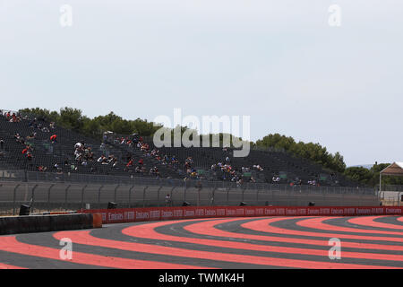 Marseille, France. 21st Jun 2019. FIA Formula 1 Grand Prix of France, practice sessions; Fans around the circuit, empty seats Credit: Action Plus Sports Images/Alamy Live News - Stock Image